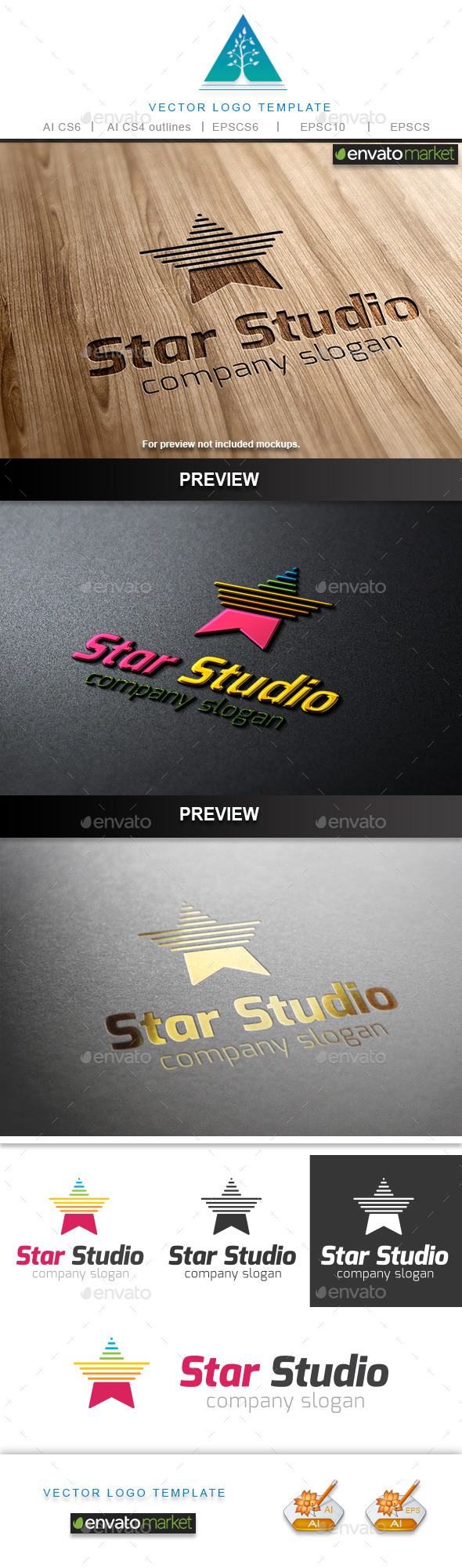 GraphicRiver Star Studio Logo 9698406