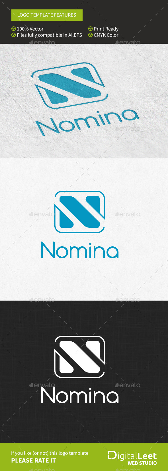 GraphicRiver Nomina N Letter 9698533
