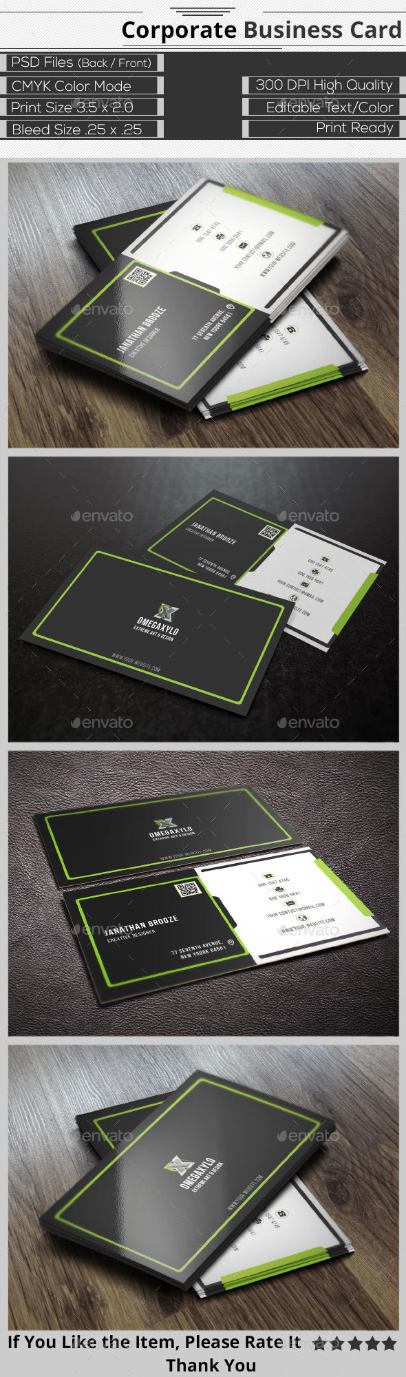 GraphicRiver Modern Corporate Business Card 9698672