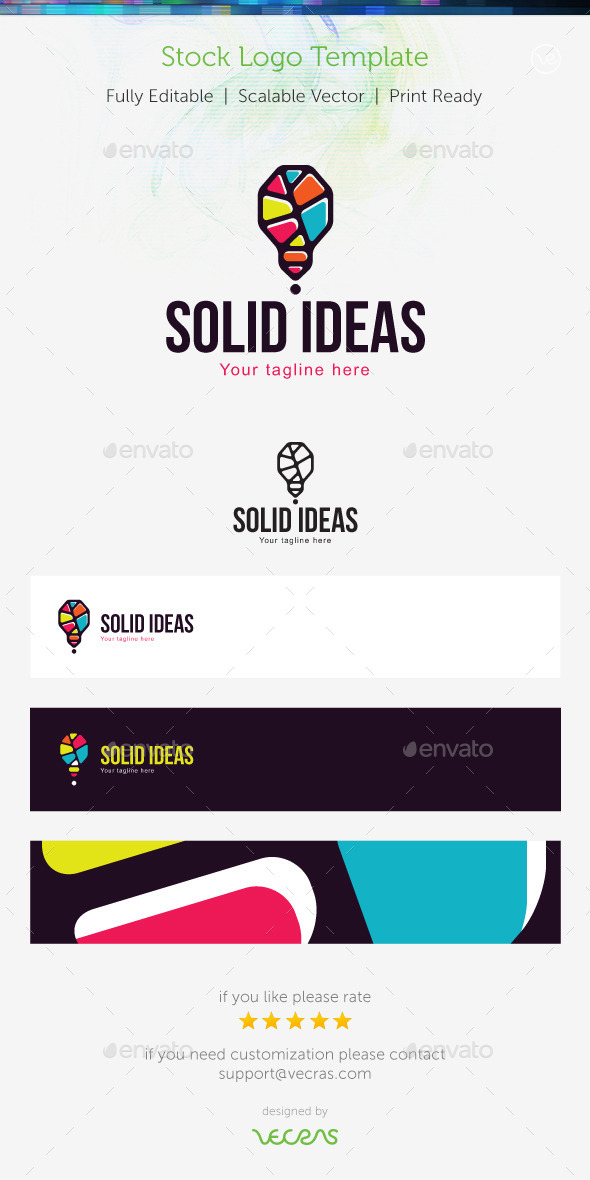 GraphicRiver Solid Ideas Stock Logo Template 9698883