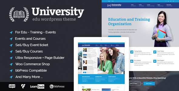 University - Education, Event and Course Theme Download