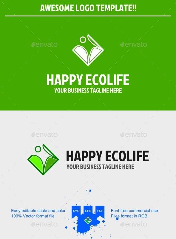 GraphicRiver Eco life logo 9698907