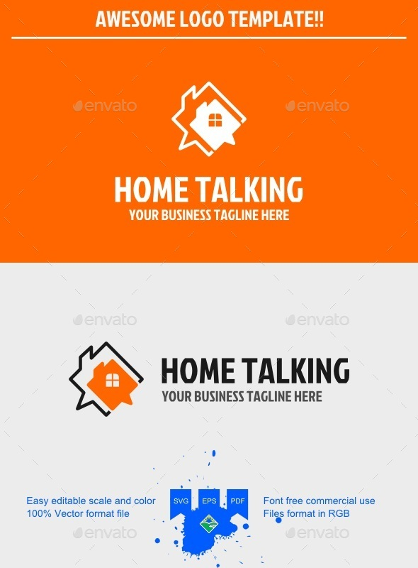 GraphicRiver Talking home logo 9698921