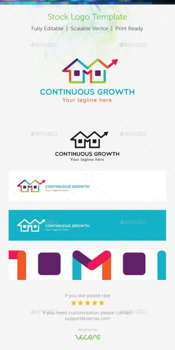 GraphicRiver Continuous Growth Stock Logo Template 9698944