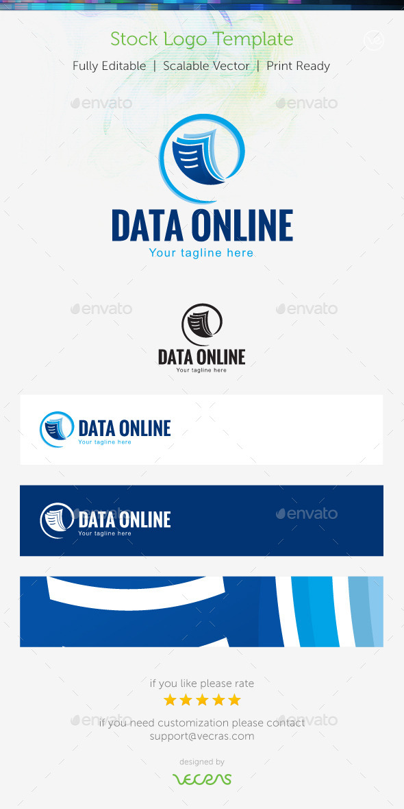 GraphicRiver Data Online Stock Logo Template 9698990