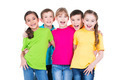 Group of happy children in colorful t-shirts. - PhotoDune Item for Sale