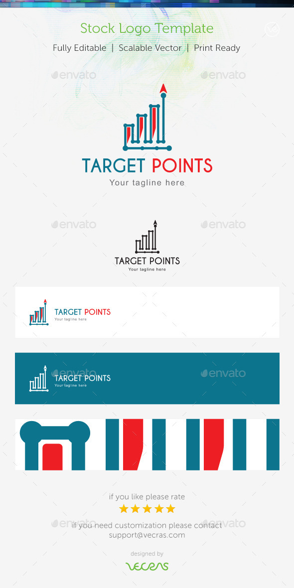 GraphicRiver Target Points Stock Logo Template 9699047
