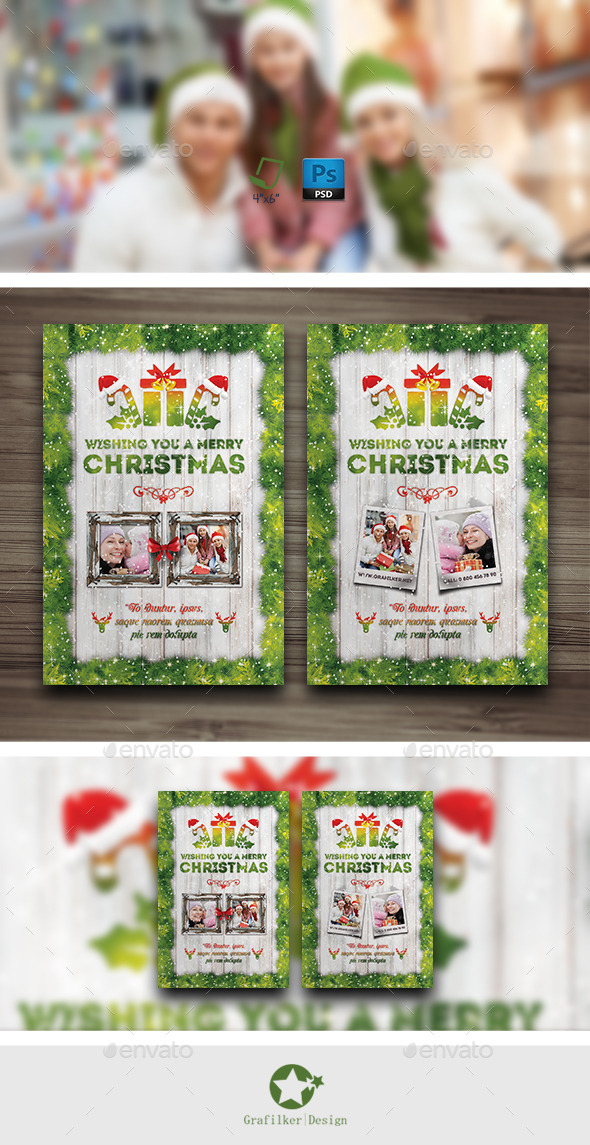 GraphicRiver Christmas Postcard Templates 9652390