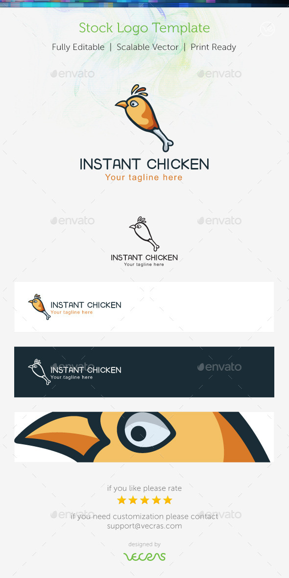 GraphicRiver Instant Chiken Stock Logo Template 9699124