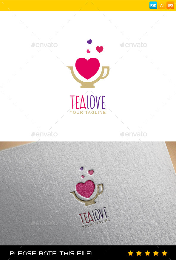 GraphicRiver Tea Love Logo 9699286