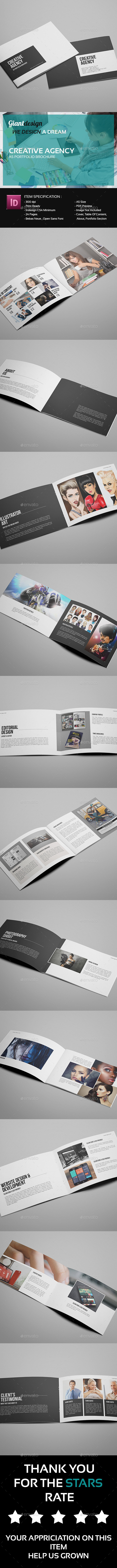 GraphicRiver Creative Agency A5 Portfolio Brochure 9699291