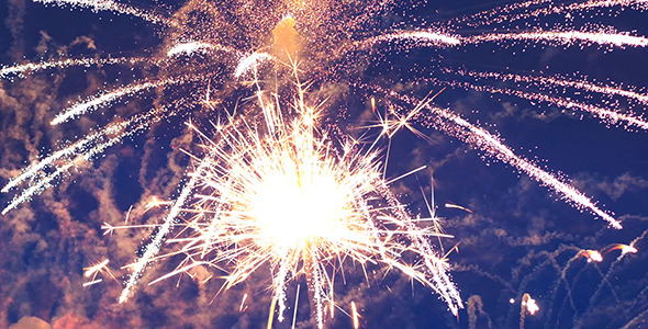 VideoHive Christmas Fireworks 9677415