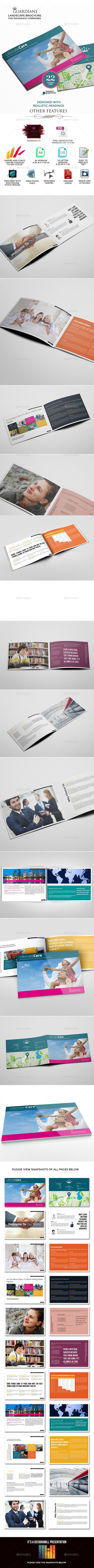 GraphicRiver Landscape Brochure for Insurance Companies 9699533