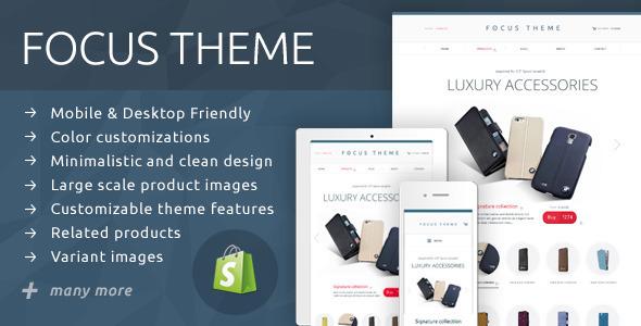 ThemeForest Focus Theme Simple & Elegant Shop 9143879
