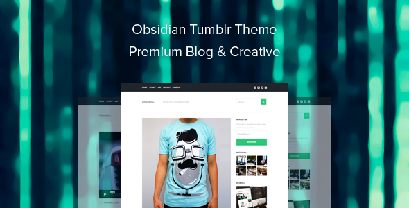 ThemeForest Obsidian Tumblr Theme Premium Blog & Creative 9661717