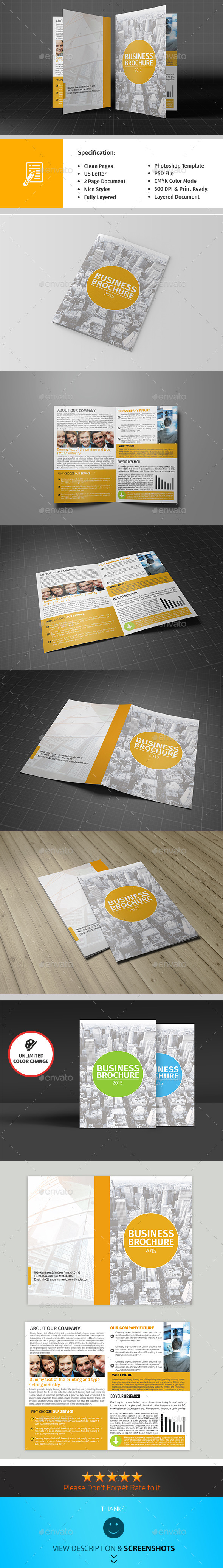 GraphicRiver Bifold Corporate Brochure Template Vol03 9699651