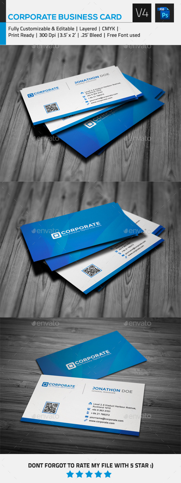 GraphicRiver Corporate Business Card V4 9699669