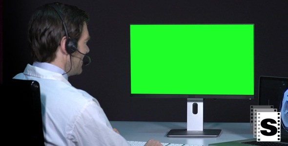 VideoHive Male Doctor Telemedicine Green Screen 9699696