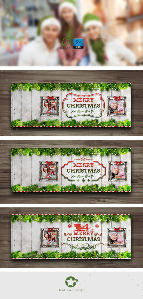 GraphicRiver Christmas Timeline Cover Templates 9699729