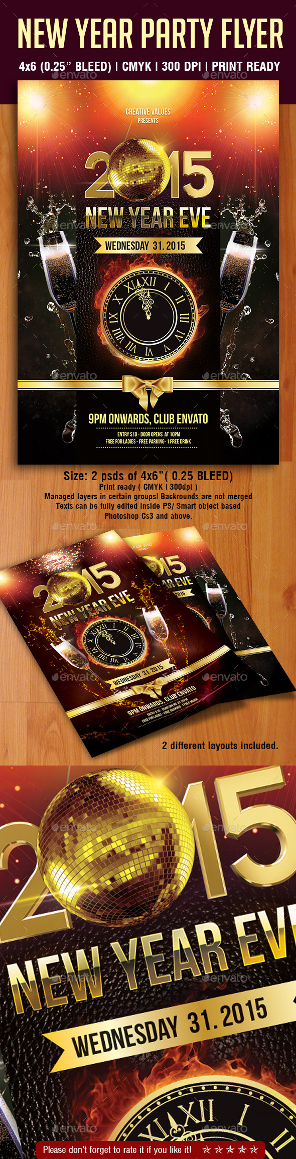 GraphicRiver New Year Party Flyer 9699742