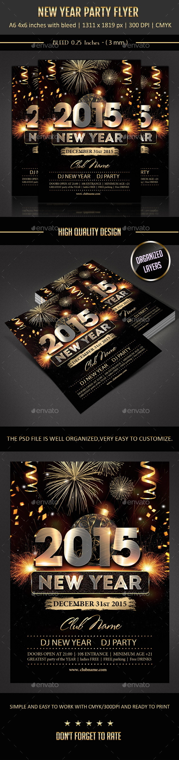 GraphicRiver New Year Flyer 9658497