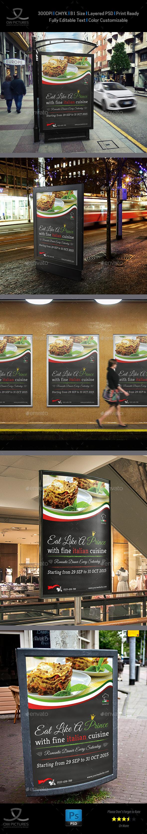GraphicRiver Italian Restaurant Poster Template 9699869