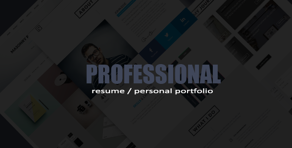 ThemeForest Professional Resume Portfolio HTML Template 9675194