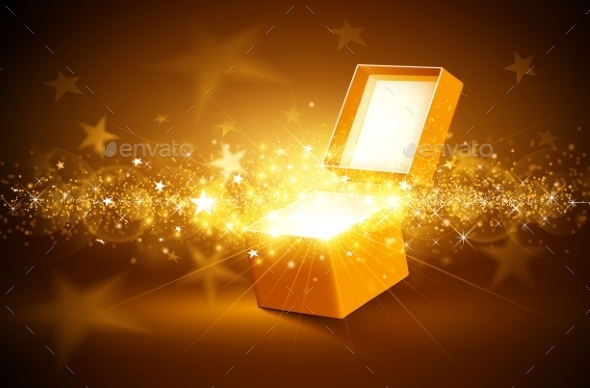 GraphicRiver Christmas Golden Background 9700523