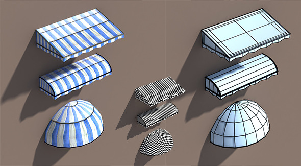 3DOcean Awning Misc Architecture 3D Low poly Model 9700639