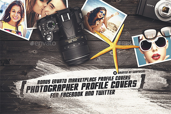 GraphicRiver Photographer Social Profile Covers 9661836