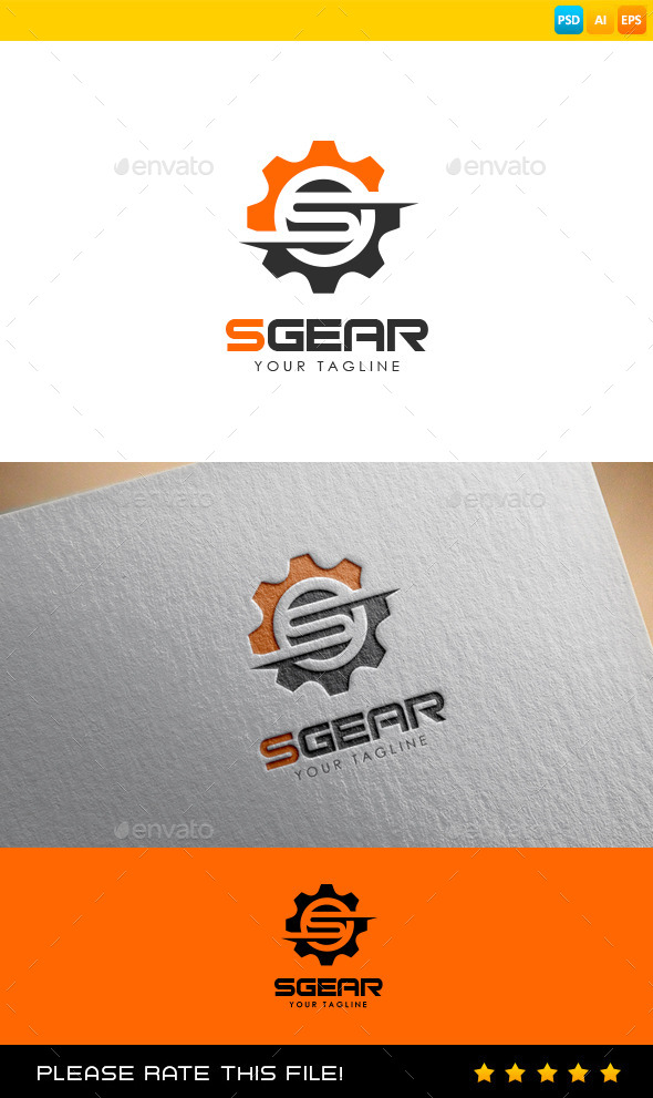 GraphicRiver S Gear Logo 9700772