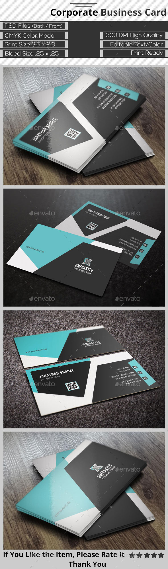 GraphicRiver Modern Corporate Business Card 9700819