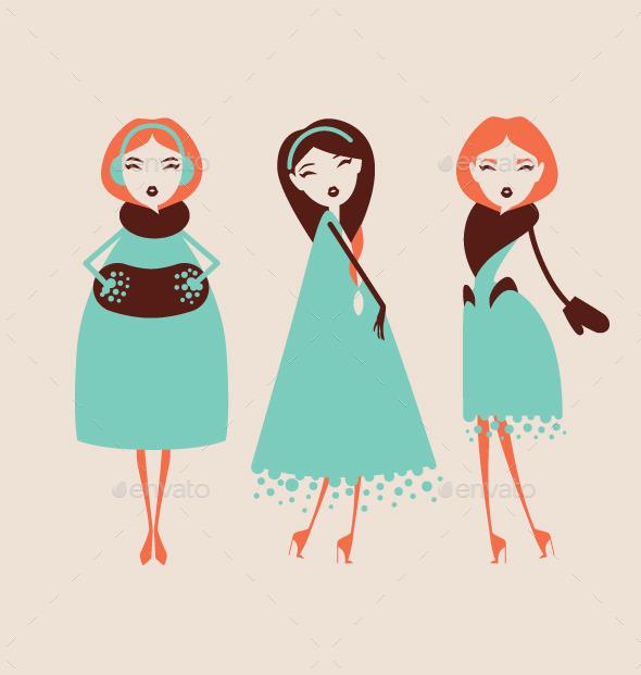 GraphicRiver Fashion Woman Collection 9700854