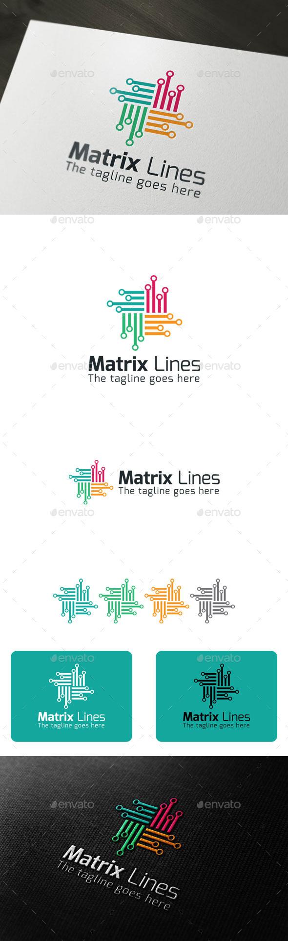 GraphicRiver Matrix Lines 9700894
