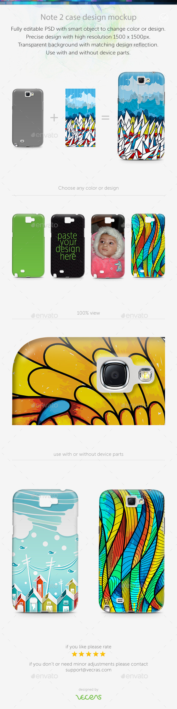 Note 2 Case Design Mockup