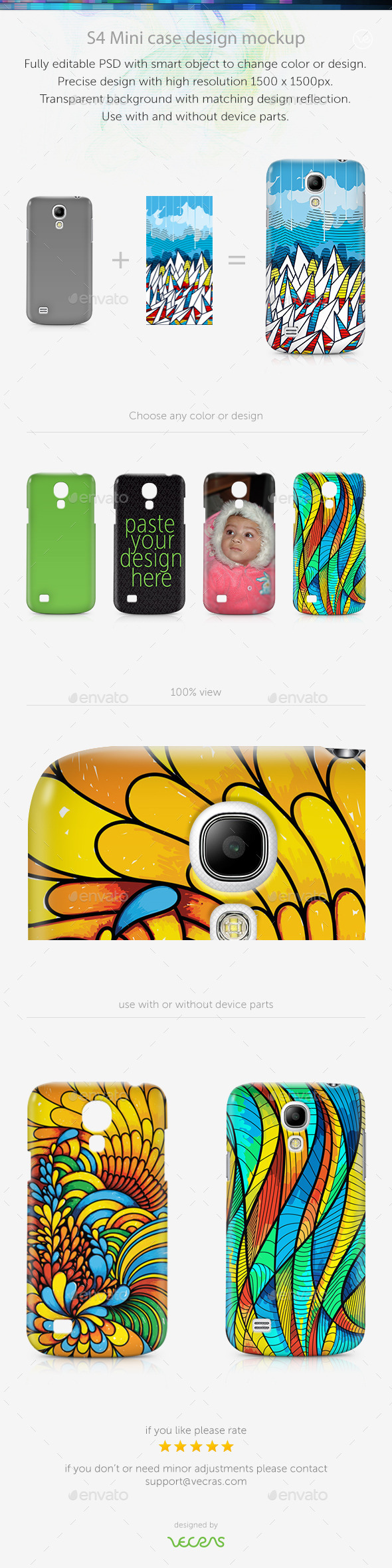 GraphicRiver S4 Mini Case Design Mockup 9700989