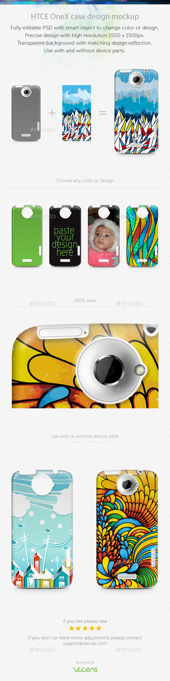 GraphicRiver HTCE OneX Case Design Mockup 9701041