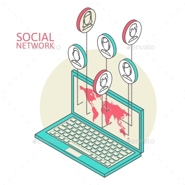 GraphicRiver Conceptual Image with Social Networks 9701195