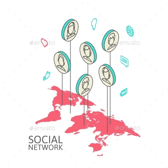 GraphicRiver Conceptual Image with Social Networks 9701232