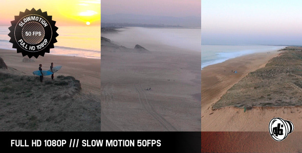 VideoHive Sunset Surfers and Dunes 9701420