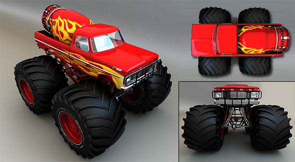 Monster Truck - 3DOcean Item for Sale