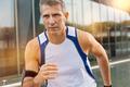 Mature Male Athlete Jogging