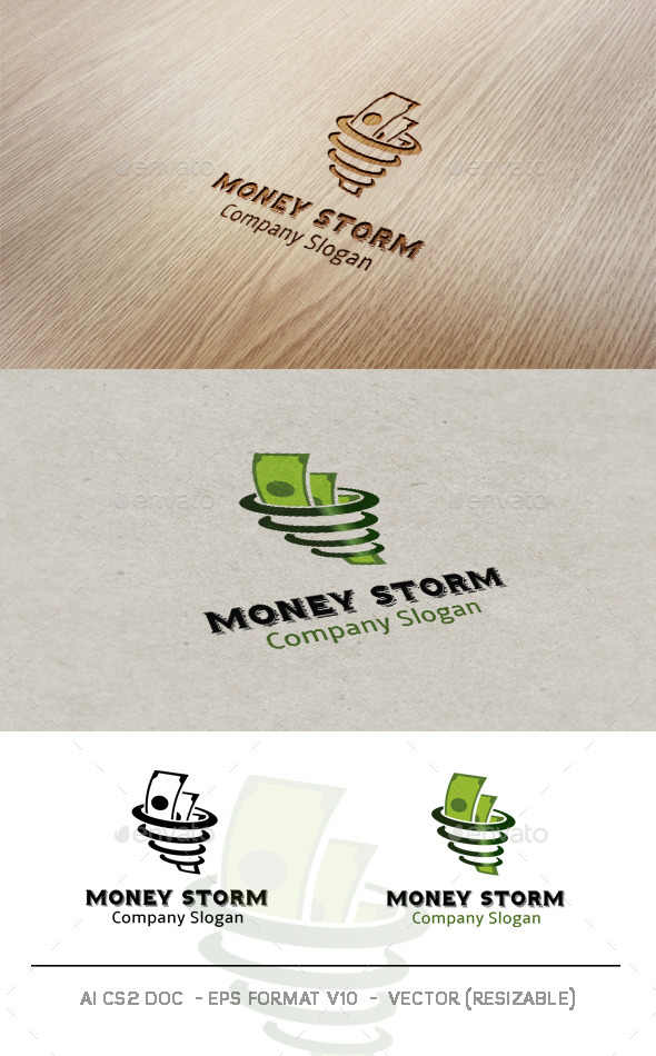 GraphicRiver Money Storm logo 9701665