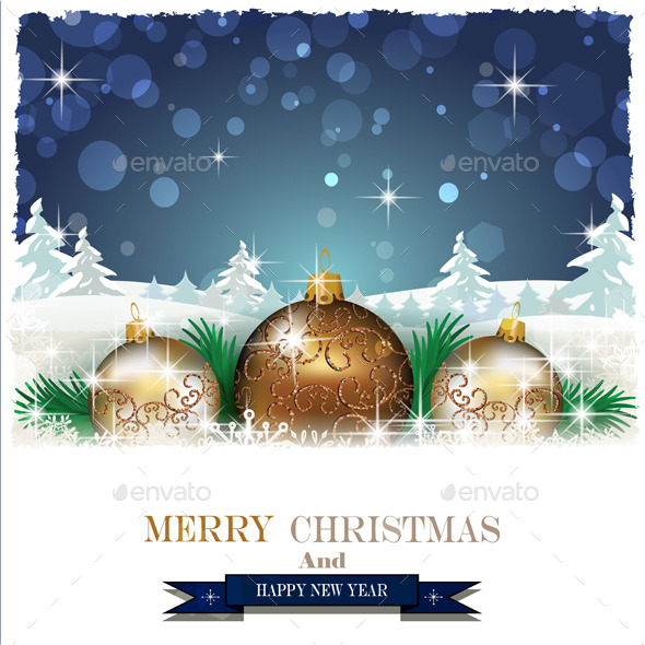GraphicRiver Christmas Decorations and Trees 9701800