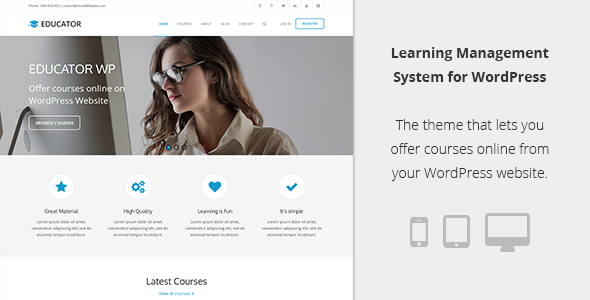 Educator WP - Learning Management System Theme
