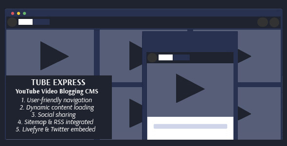 CodeCanyon Tube Express Video Blogging CMS 9599827