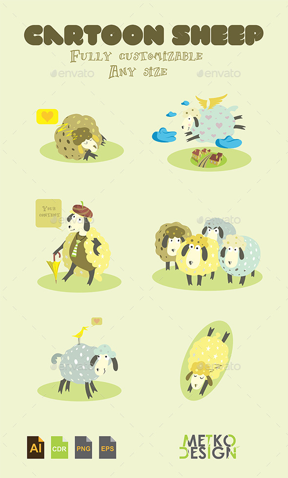 GraphicRiver Cartoon Sheep 9661527