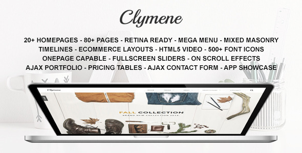 ThemeForest Clymene Multipurpose HTML5 Template 9670493