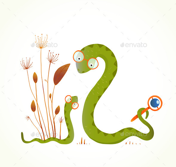 GraphicRiver Mother Snake with a Rattler 9702469