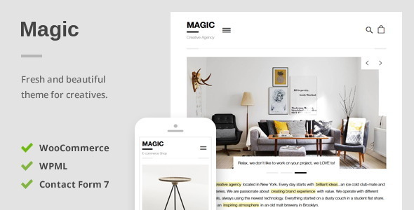 Magic A Creative Portfolio & Ecommerce WordPress Theme